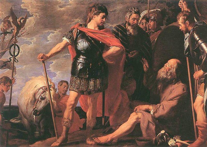 Caspar_de_Crayer_Alexander_and_Diogenes, séc. XVII