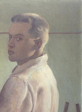 Alex Colville, Self -Portrait, 1942 (pormenor)