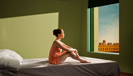 De Visions of Reality, Gustav Deutsch (2013). Fotografia de Jerzy Palacz a partir do quadro de E. Hopper.