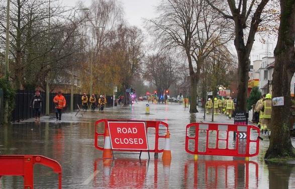 O Grandpont, quando inunda.