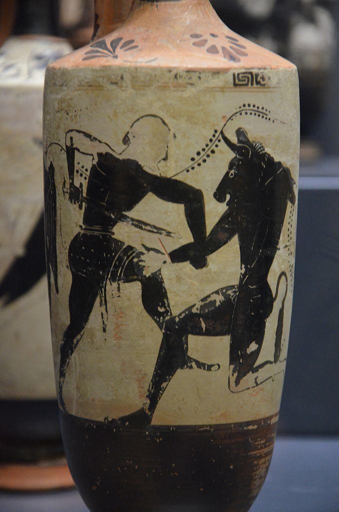Teseu e o Minotauro, Vaso Grego, ca. séc. VII-V a.C.
