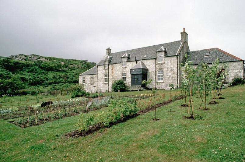 A casa e a horta de Orwell na ilha de Jura,