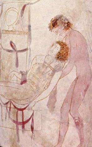 O sono carrega o corpo de Sarpédon. Vaso vermelho da ática (lekythos) ca. 440 a.C. Colecção do British Museum.