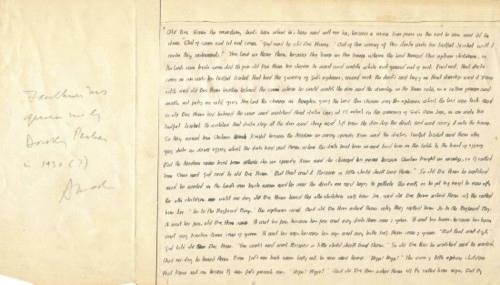 Página de um manuscrito do Faulkner real