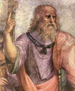 A escola de Atenas, Rafael ca. 1509 (Platão, pormenor)