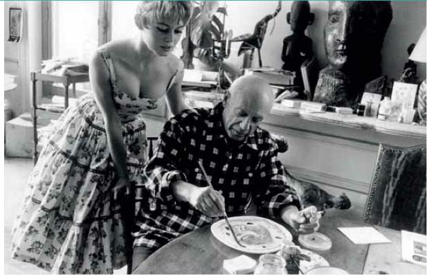 Brigitte Bardot no atelier de Picasso em 1958.png