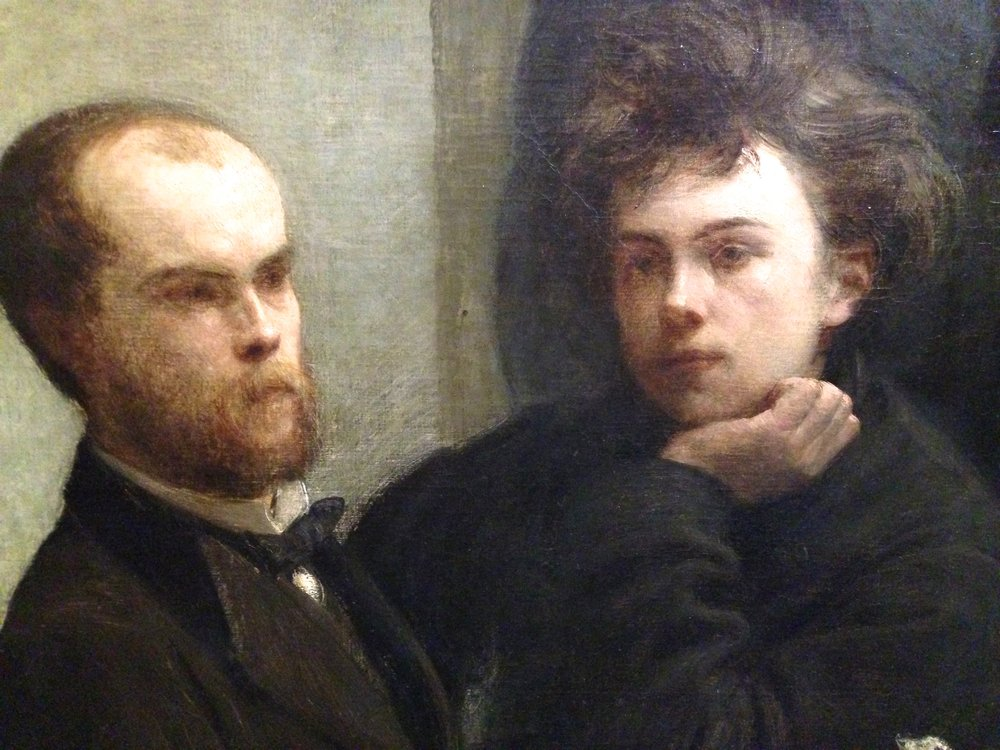Henri Fantin Latour - Un Coin de Table, 1872 (Verlaine e Rimbaud, pormenor)