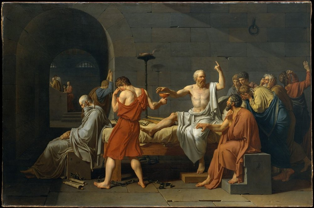 A Morte de Sócrates de Jacques-Louis David, 1787