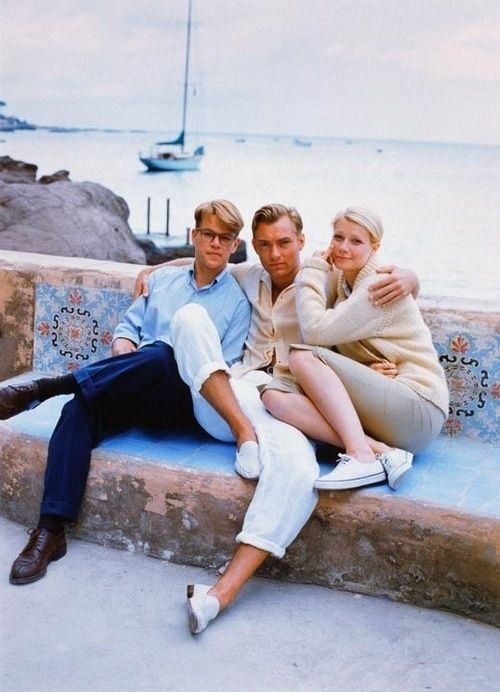 Blonde bombshells Matt Damon, Jude Law & Gwyneth Paltrow.