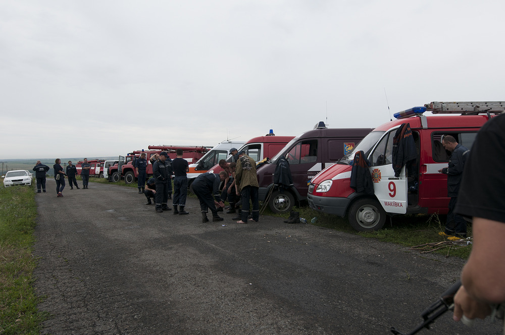 Firemen gearing up