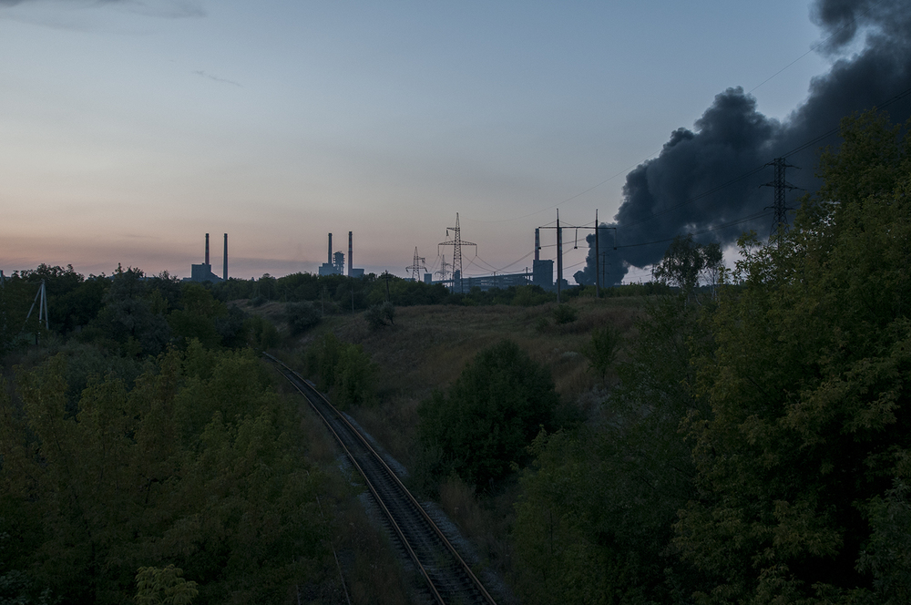Industrial zone in Makiivka