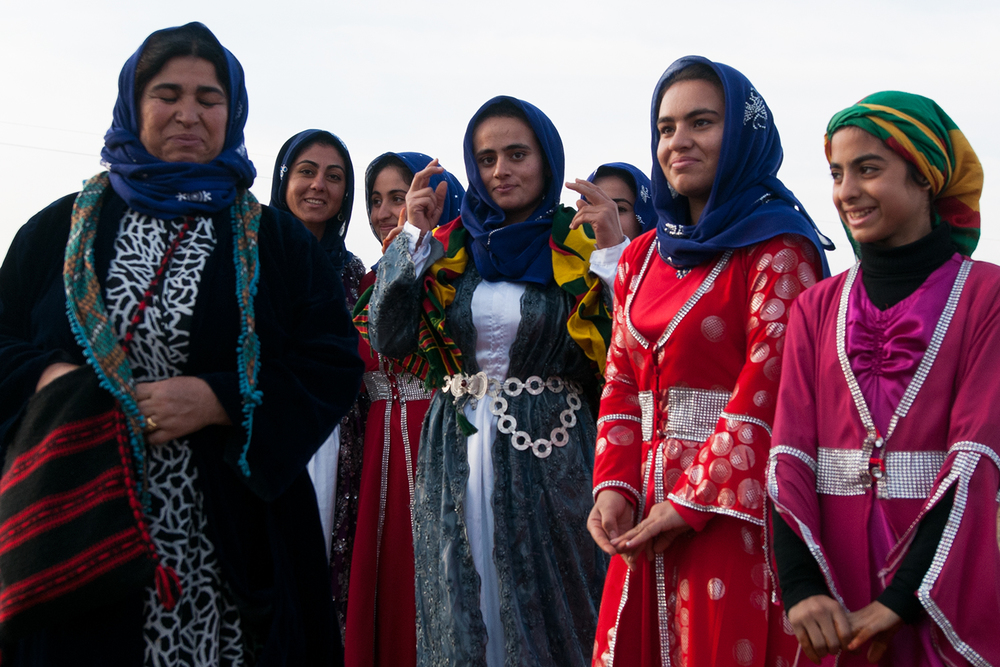 Kurdish women in traditional clothing