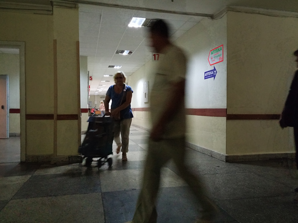 Corridors of the Emergency  Hospital.