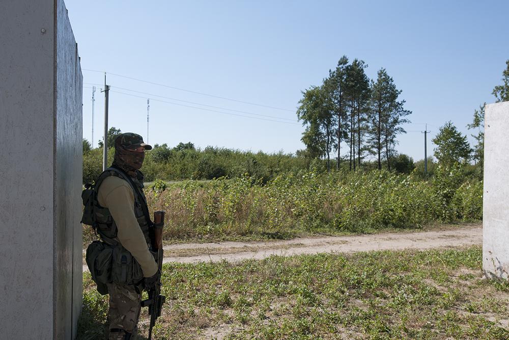 Ukrainian soldier.