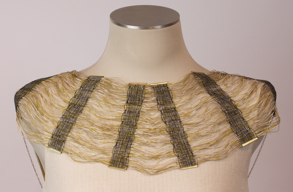 Hand woven collar by Haywood graduate Molly Erickson, 2014