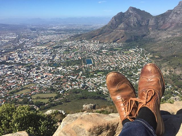 Despite inappropriate footwear, made it to the top of lions head for a beautiful view over Cape Town. Making the most of an extra day at the end of a week reporting on the city's ongoing drought.