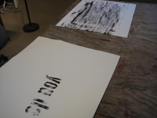 Silkscreen Print in Studio, 2010