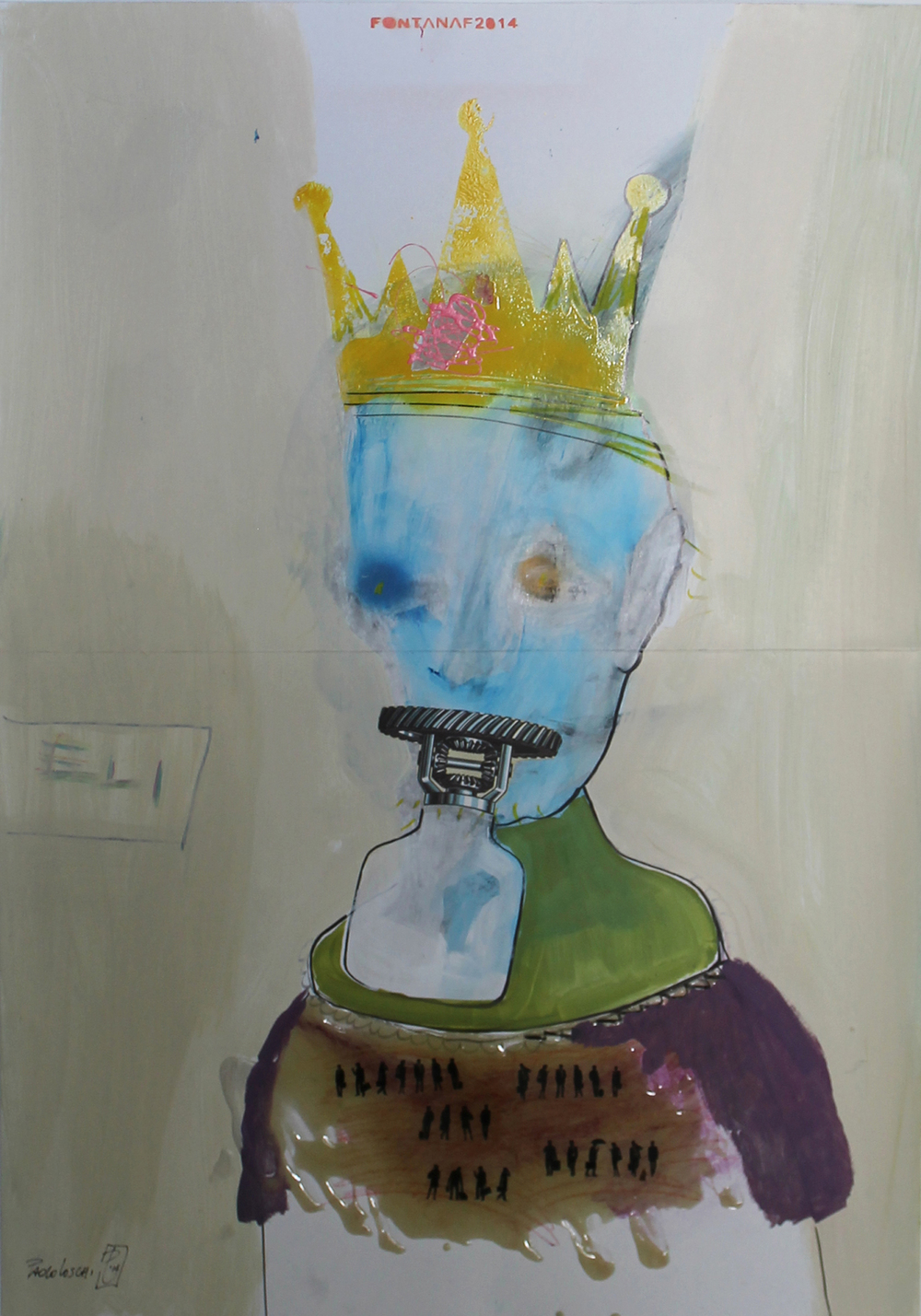 ELI  MIXED MEDIA ON PAPER - 70x100cm 2014