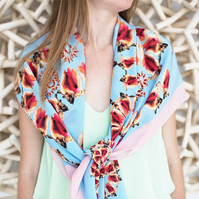 • channel the tropics - the conch scarf •