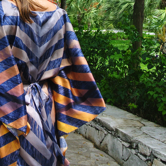 • channel the tropics - the sunset kaftan •