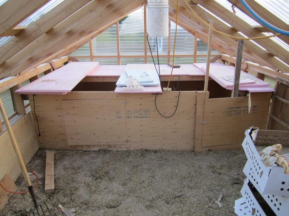 Brooder Hut view from door