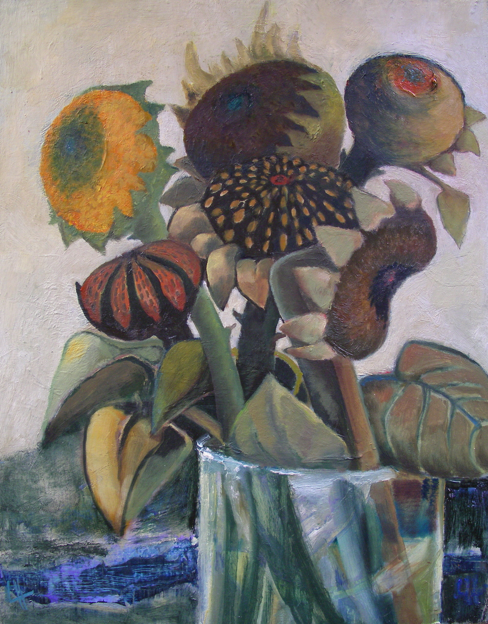 Vase of Sunflowers I  [35x46cm] oil on board, 2012  SOLD