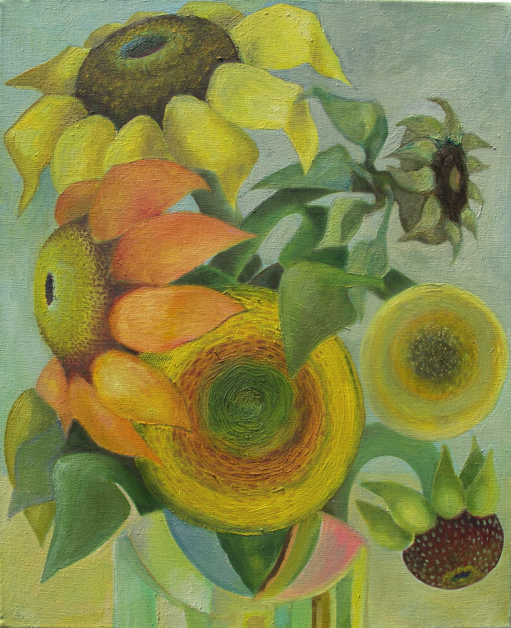 Sunflowers I  [38cmx48cm] oil on canvas, 2011 SOLD