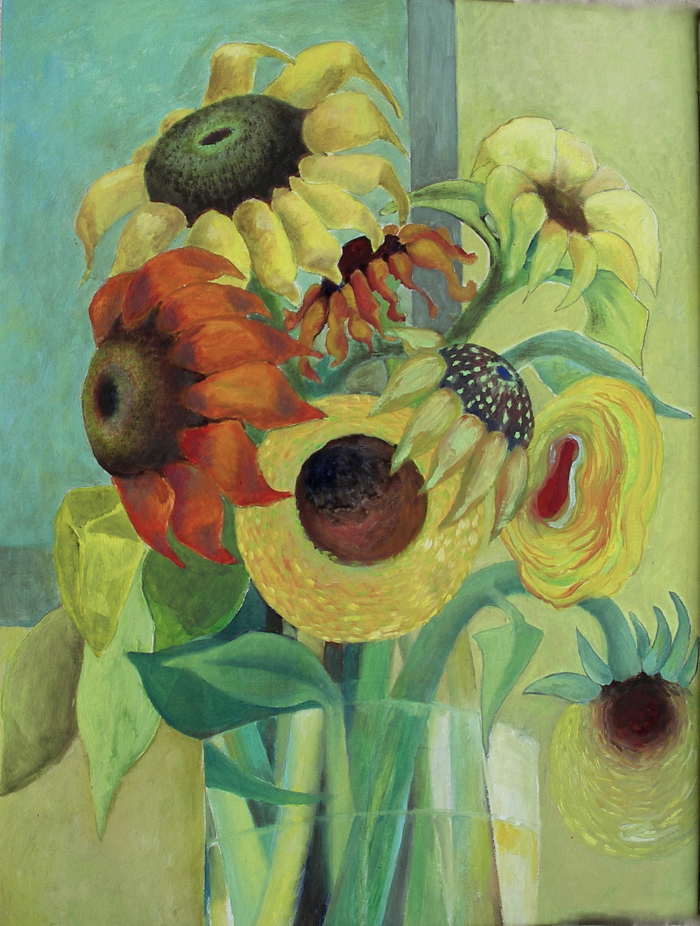 Sunflowers IV  [50x66cm] oil on board, 2011 SOLD