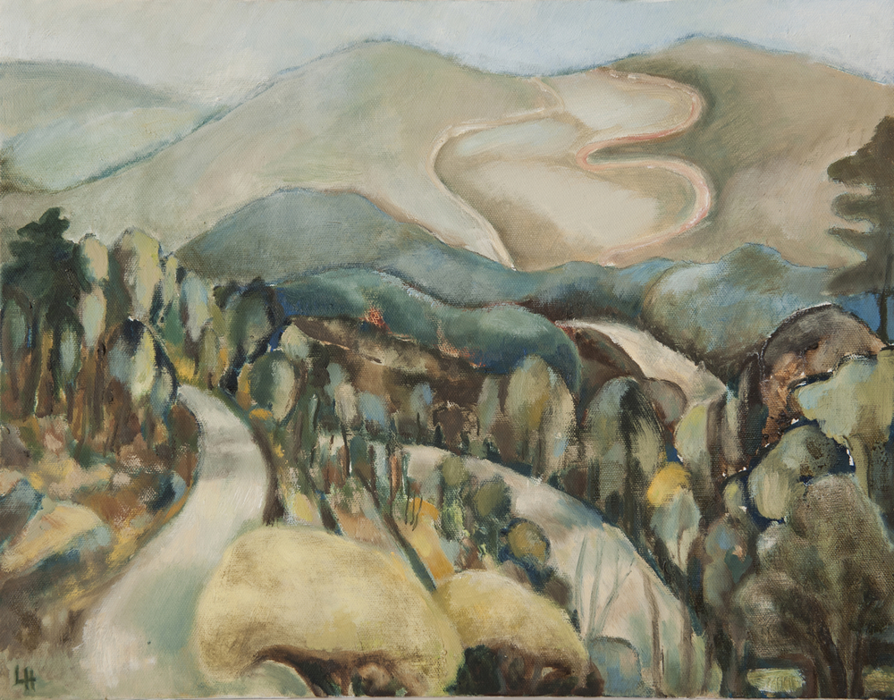 Cévennes Mountains Winter [46cmx36cm]   Laura Hudson   2011 SOLD.jpg