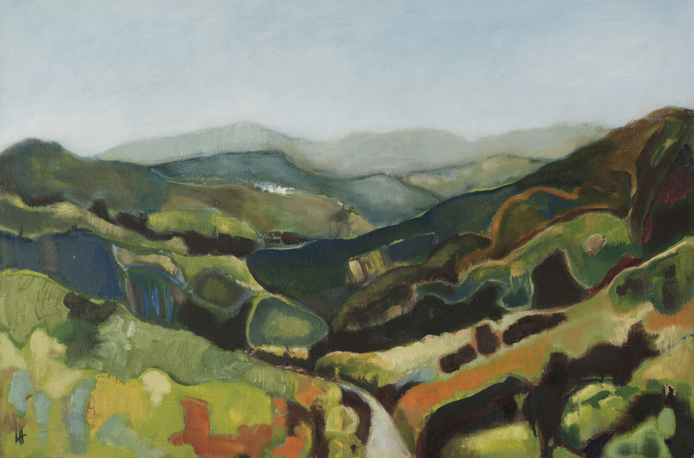 Cévennes Mountains Autumn [60x 40cm] oil on canvas, 2010-2011 Laura Hudson SOLD.jpg
