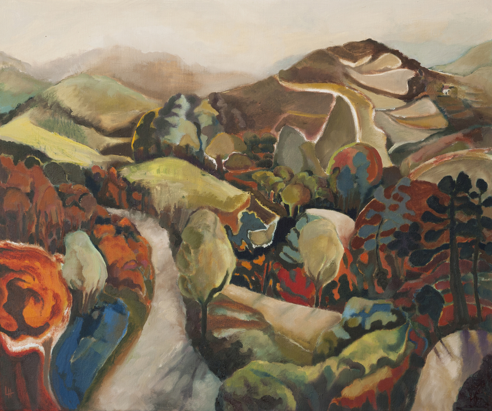 Paths Through the Cévennes [61x51cm] oil on canvas 2012  Laura Hudson.jpg