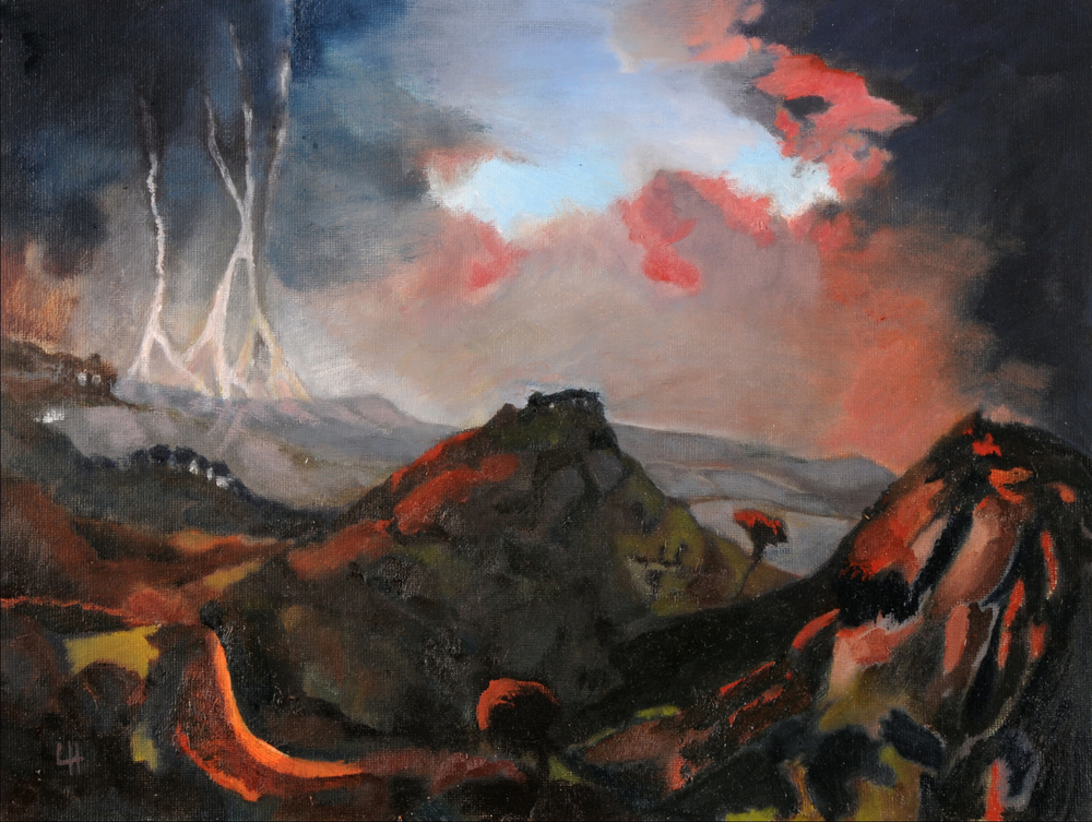 Dawn Storm [40x30cm] oil on board Laura Hudson 2011.jpg