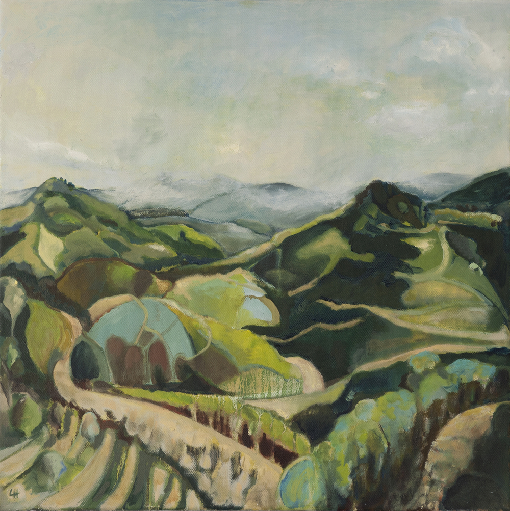 Cévennes Mountains Summer [51x51cm] oil on canvas 2011 Laura Hudson SOLD.jpg