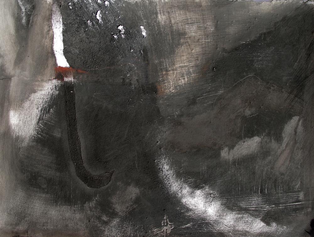 The Inheritors  [57x41cm] Bideford black pigment, iron oxide on paper 2013