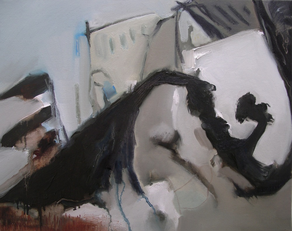 Moving   [50x40cm] oil on linen, Laura Hudson 2014