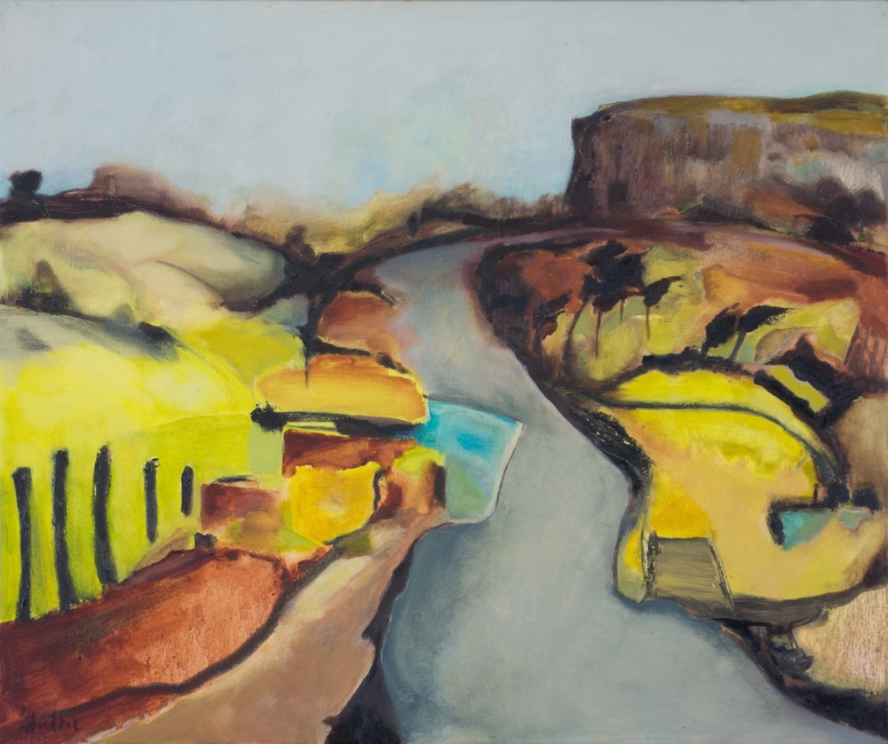 Coast Road, Widemouth Bay [55x46cm] oil on canvas  Laura Hudson 2013