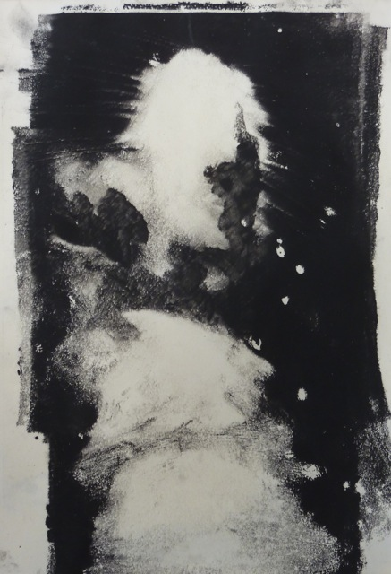 Dartmoor Lane I [23x31cm]  Monotype without press, 2012