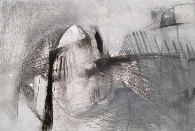 Presence II  [30x21cm] drypoint, 2014