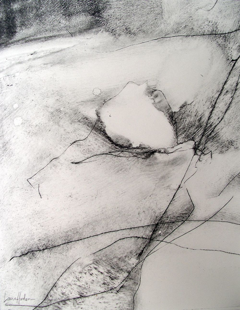 Dartmoor III [29x23cm] dry point + carbon, 2013