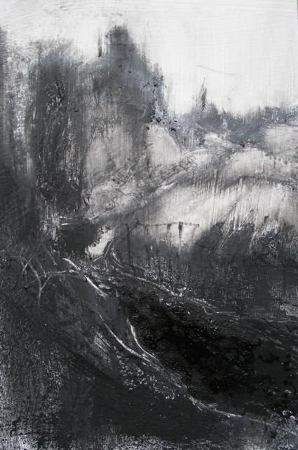 Devon Lanes [10x14cm] Monotype+pigment, 2012