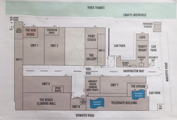 Thames-Side Studios Site Map