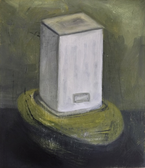 Nail House-Concealed Entrance Oil on wood (26x30cm) 2018