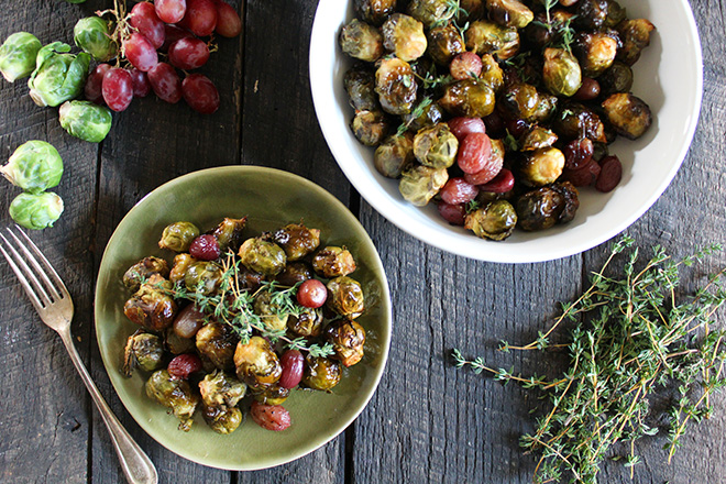 Try this Balsamic Brussel Sprouts & Red Grapes recipe