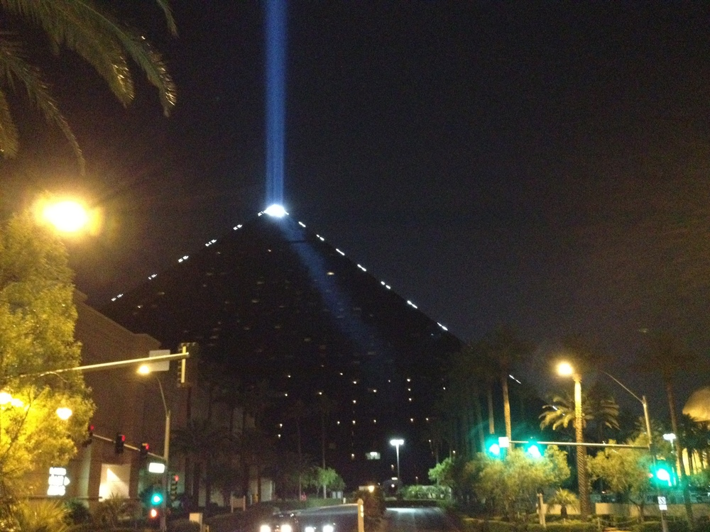 The Luxor casino. No self-respecting fantasy writer could ever resist this.