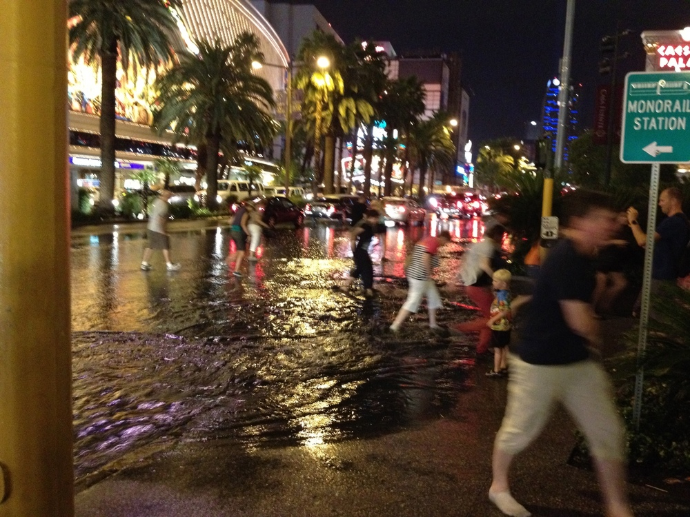 Vegas in the rain