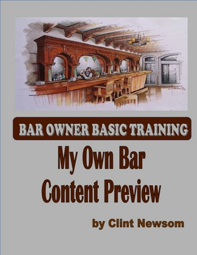 "FREE PREVIEW OF ""My Own Bar"""