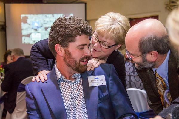 Dean of SFOS UAF, Mike Castellini and Teresa Thompson