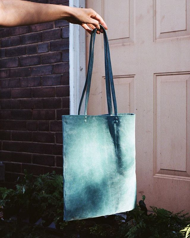 Hi! It's been a while 👋🏻 It seems like it's time to come out of hibernation and consider how perfectly 'spring' the Light Teal Suede Shopper Tote is