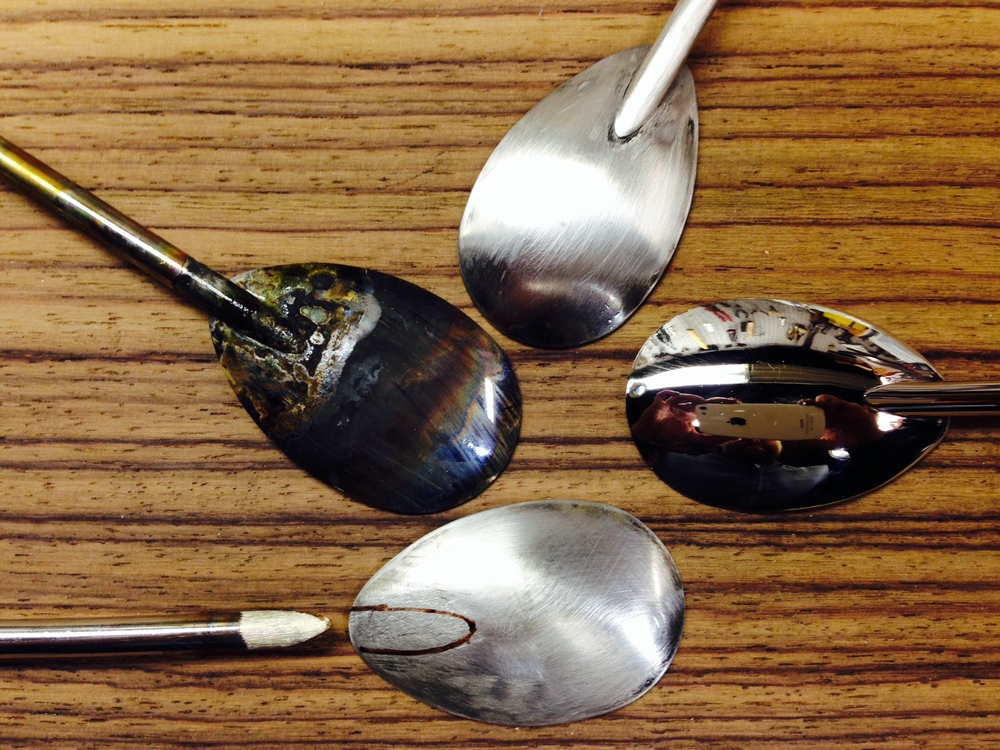 standard spoon silver soldering stages