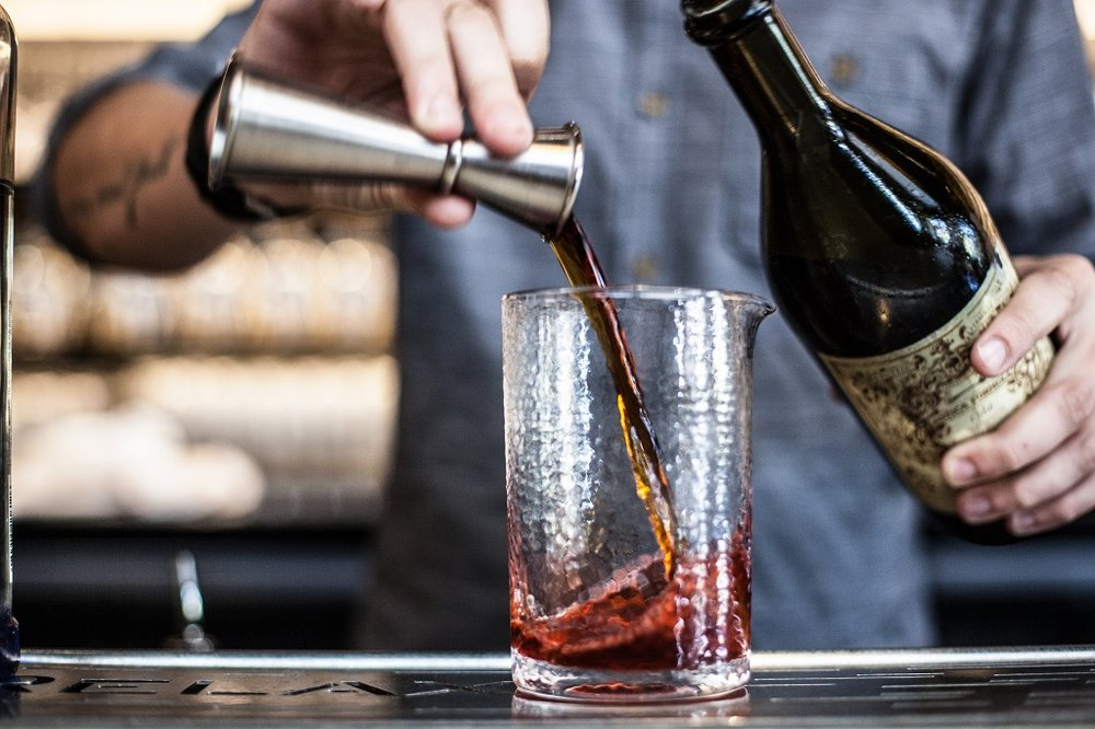 Brandon Curry Makes a Negroni Cocktail with Standard Spoon Mixing Glass.jpg